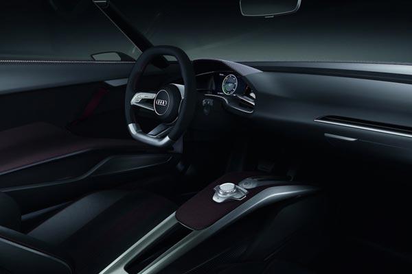 Интерьер салона Audi E-tron Spyder Concept
