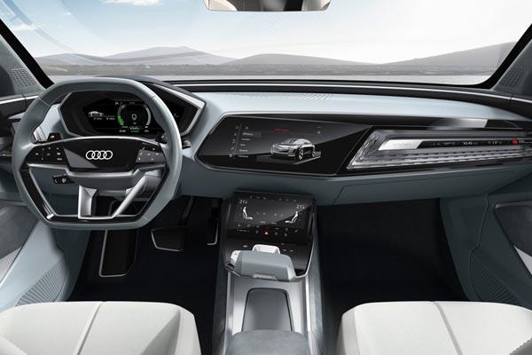 Интерьер салона Audi E-tron Sportback Concept