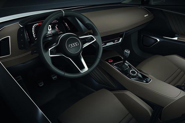 Интерьер салона Audi quattro Concept