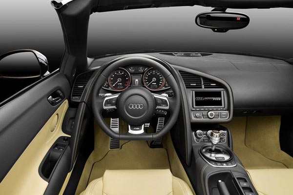 Интерьер салона Audi R8 Spyder