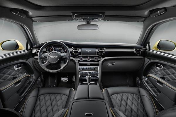 Интерьер салона Bentley Mulsanne Speed