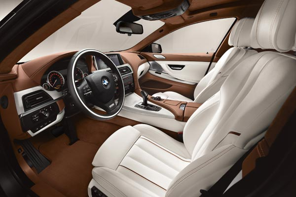 Интерьер салона BMW 6-series Gran Coupe