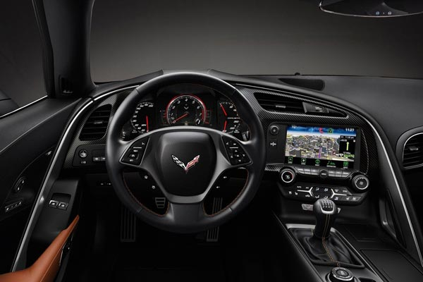 Интерьер салона Chevrolet Corvette C7 Stingray