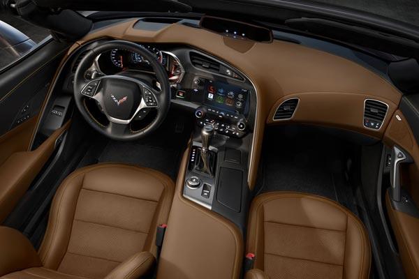 Интерьер салона Chevrolet Corvette C7 Stingray Convertible