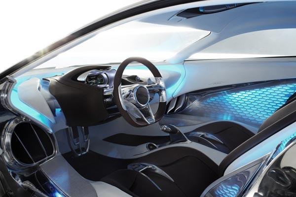 Интерьер салона Jaguar C-X75 Concept