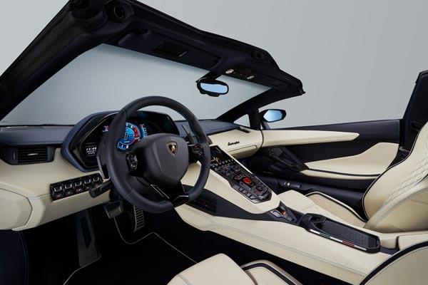 Интерьер салона Lamborghini Aventador S Roadster