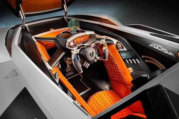 Интерьер салона Lamborghini Egoista Concept