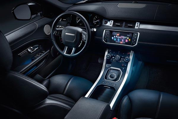 Интерьер салона Range Rover Evoque