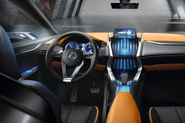 Интерьер салона Lexus LF-NX Concept