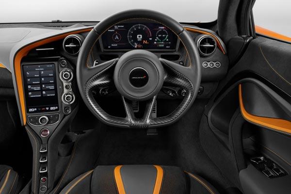 Интерьер салона McLaren 720S