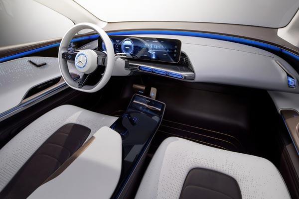 Интерьер салона Mercedes Generation EQ