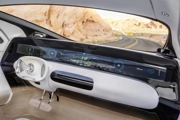 Интерьер салона Mercedes F015 Luxury