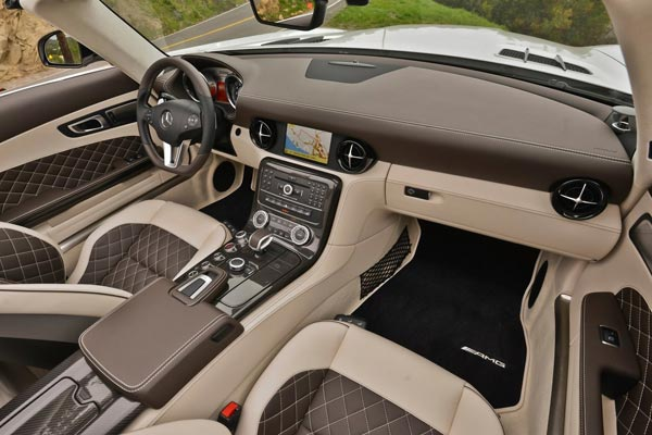Интерьер салона Mercedes SLS GT Roadster