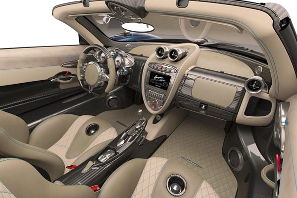 Интерьер салона Pagani Huayra Roadster