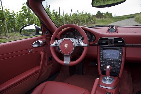 Интерьер салона Porsche 911 Cabrio