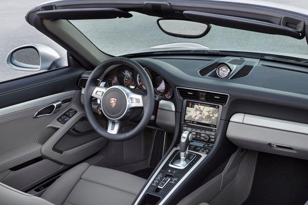 Интерьер салона Porsche 911 Turbo Cabriolet