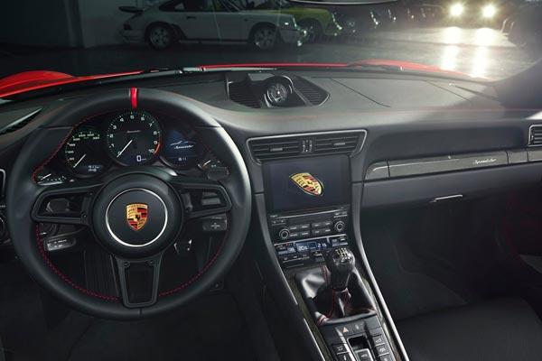 Интерьер салона Porsche 911 Speedster
