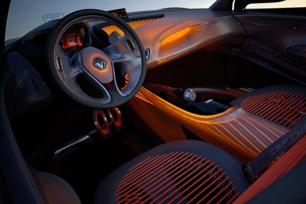 Интерьер салона Renault Captur Concept
