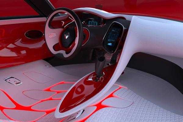 Интерьер салона Renault DeZir Concept