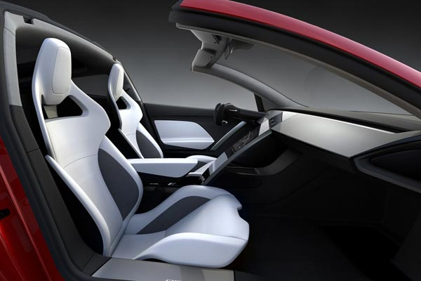 Интерьер салона Tesla Roadster