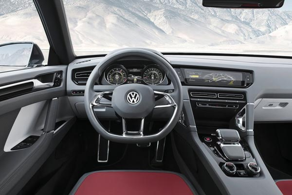 Интерьер салона Volkswagen Cross Coupe Concept