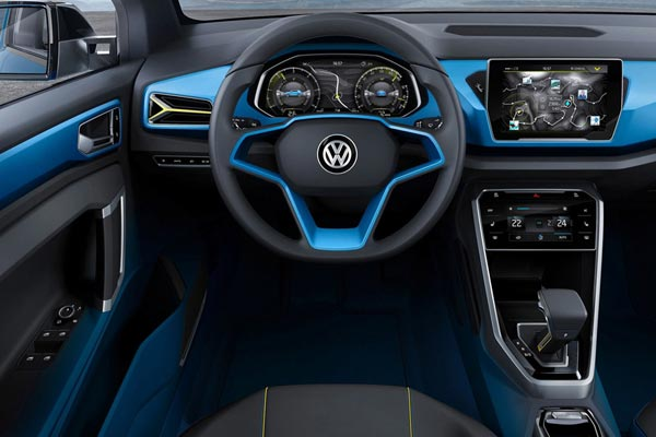 Интерьер салона Volkswagen T-Roc Concept