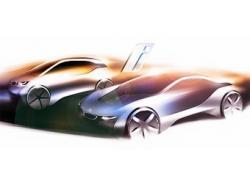 i3 и i8. Иллюстрация BMW