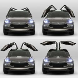 электрический кроссовер Model XАмериканская. компания Tesla представила электрический кроссовер Model X...