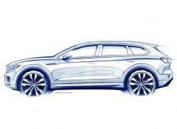 VW Touareg 2018. Скетч VW