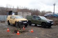 Варианты окраски Volkswagen Amarok Military. Фото CarExpert.ru