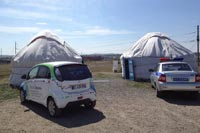 Кругосветная экспедиция на электромобиле Citroen C-Zero. Фото Citroen