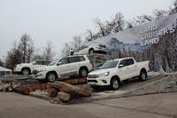 Линейка обновленных внедорожников Toyota. Фото CarExpert.ru