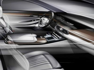 Интерьер Hyundai G90. Тизер Hyundai