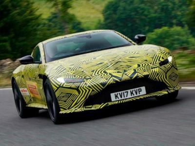 Aston Martin Vantage 2018. Тизер Aston Martin