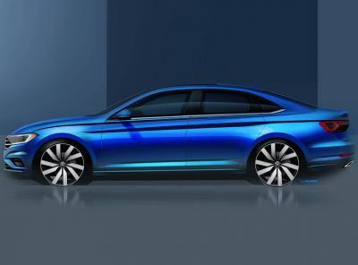 VW Jetta. Скетч VW