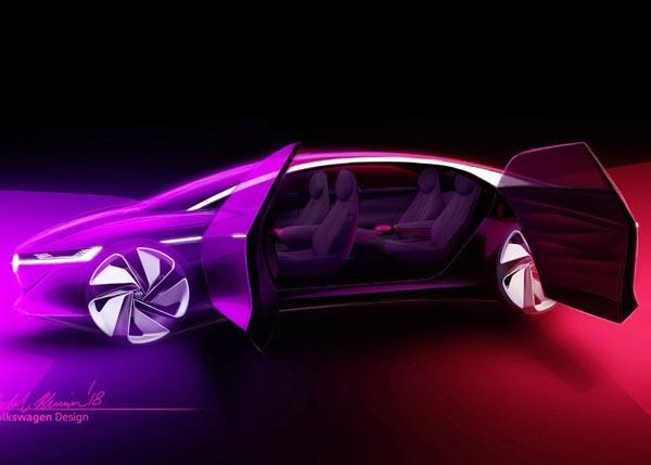 Volkswagen I.D. Vizzion. Скетч VW
