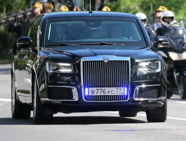 Aurus Senat. Фото kremlin.ru и RCI News