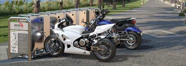 Припаркованные мотоциклы