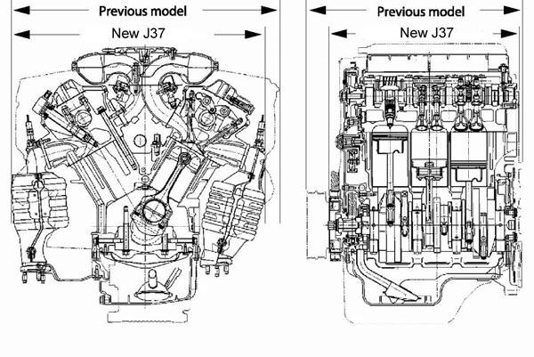 Литражная и мощная «шестерка» J37 стала еще компактней.