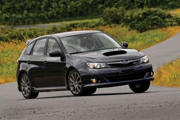 Subaru Impreza WRX сильно выступила в тест-упражнениях.