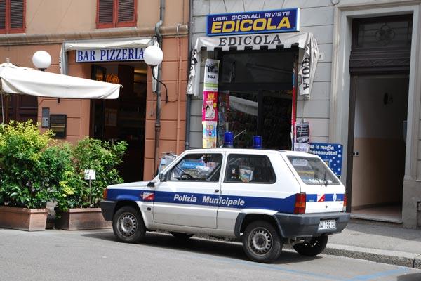 Fiat Panda первого поколения до сих пор исправно несут службу в итальянской полиции