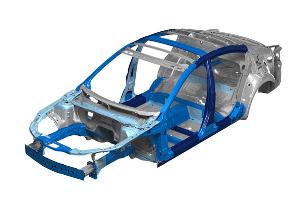 Силова структура кузова седана Mazda6