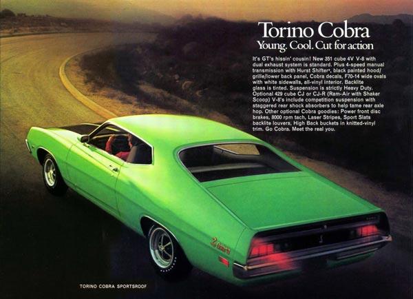 Torino Cobra SportsRoof зрительно воспринимался как высокодинамичное спорт-купе. И не обманывал ожиданий.