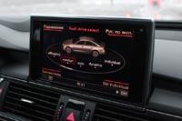 Экран системы Audi Drive Select в бизнес-седане Audi A6