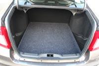 Багажный отсек у Datsun on-DO значительно больше, он вообще один из самых больших среди все седанов, представленных на российском рынке