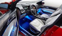 Интерьер концепт-кара Ford Edge, передние сиденья