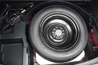В подполье запасное колесо - докатка