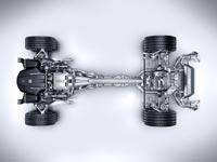 Трансмиссия спорткара Mercedes-AMG GT выполнена по схеме Transaxle