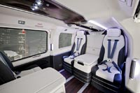 Интерьер вертолёта EC145, созданный Mercedes-Benz Style