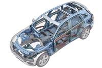 Продуманное сочетание высокопрочных сталей и алюминиевых сплавов обеспечивает высокую жёсткость кузова при минимальной массе